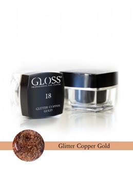 Glitter Copper Gold 18