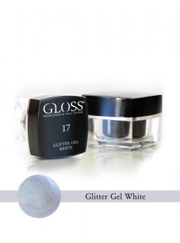 Glitter Gel White 17