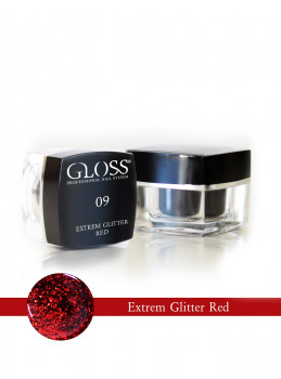 Extrem Glitter Red 09