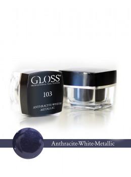 Anthracite -White Metallic 103