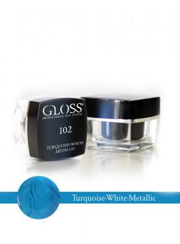 Turquoise - White Metallic 102