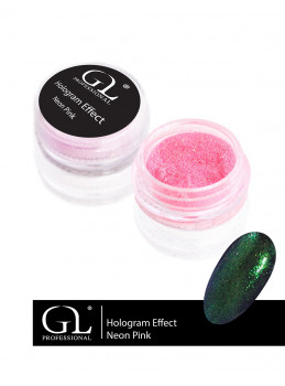 Hologram Effect Neon Pink