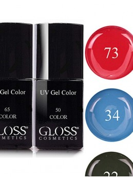 Färggel UV med penslar   Webbutik Gloss Cosmetics